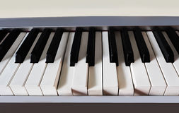Piano keyboard close-up. Orchestral music Stock Images