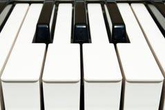 Piano Keyboard. Close up photo Stock Photos