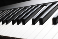 Piano keyboard Close up Stock Images