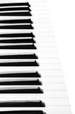 Piano keyboard close up on white Royalty Free Stock Photography