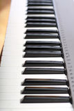 Piano keyboard - closeup Royalty Free Stock Photos