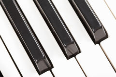 Piano keyboard closeup Royalty Free Stock Photography