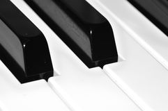 Piano keyboard closeup Stock Photos
