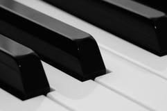Piano keyboard closeup Stock Image