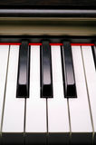 Piano keyboard closeup (2) Stock Images