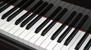 Piano keyboard closeup Stock Photography