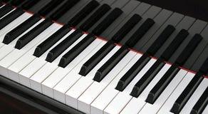 Piano keyboard closeup. Closeup of grand piano keyboard Stock Photography
