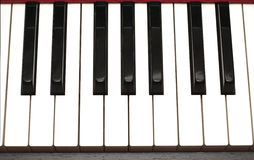 Piano keyboard closeup Stock Images