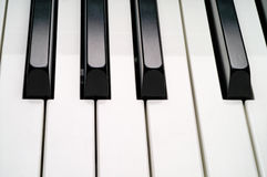 Piano keyboard closeup (3) Stock Photo