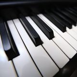 Piano keyboard closeup Royalty Free Stock Image
