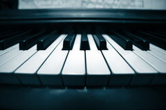 Piano keyboard closeup Stock Photo