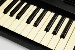 Piano keyboard closeup Royalty Free Stock Photo
