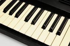 Piano keyboard closeup Royalty Free Stock Photo