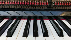 Piano keyboard. Closeup of a classical piano keyboard stock photo