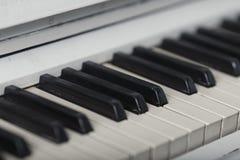 Piano keyboard closeup with. Royalty Free Stock Photos