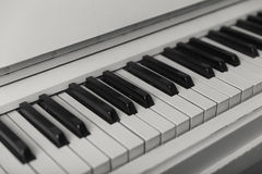Piano keyboard closeup with. Stock Images