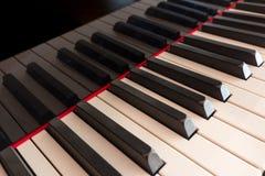Piano keyboard closeup  - piano keys Stock Photo