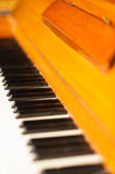 Piano keyboard, closeup shot Royalty Free Stock Images