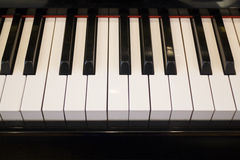 Piano keyboard colse up player view Stock Image