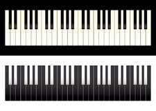 Piano keyboard contrast Stock Image