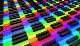 Piano keyboard. 3d on white background Royalty Free Stock Photos