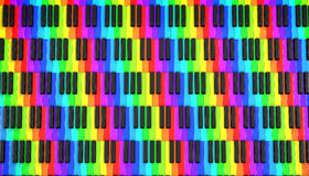Piano keyboard. 3d on white background royalty free illustration