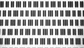 Piano keyboard. 3d on white background Stock Photos