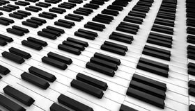 Piano keyboard. 3d on white background vector illustration