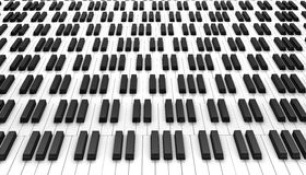 Piano keyboard. 3d on white background stock illustration
