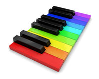 Piano keyboard. 3d on white background Royalty Free Stock Image