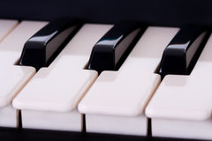 Piano keyboard detail Royalty Free Stock Images
