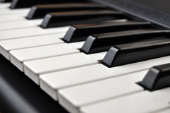 Piano Keyboard Detail Stock Photo