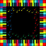 Piano Keyboard Frame. Illustration of piano keyboard frame in rainbow colors Stock Images