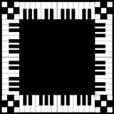 Piano Keyboard Frame. Illustration of piano keyboard frame Royalty Free Stock Photo