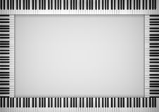 Piano Keyboard Frame Stock Image