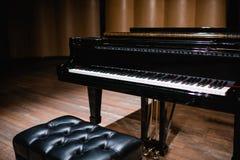 Beautiful close-up of piano keys Royalty Free Stock Photos
