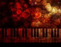 Piano Keyboard  Grunge Background Illustration Stock Photography