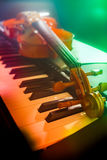 Piano keyboard with headphones Royalty Free Stock Photography