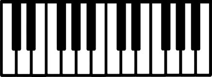Piano keyboard music Stock Photo