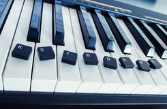 Piano keyboard, keys computer keyboard Royalty Free Stock Photo