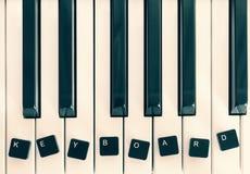 Piano keyboard, keys computer keyboard Stock Images