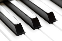 Piano keyboard keys macro Stock Image