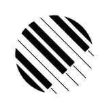 Piano keyboard logo. Vector illustration. Eps 10 icon stock illustration