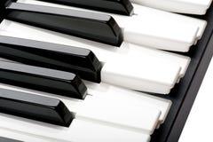 Piano keyboard macro Royalty Free Stock Image