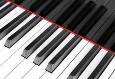 Piano keyboard macro , piano keyboard closeup Royalty Free Stock Images