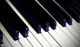Piano keyboard with many keys Royalty Free Stock Photos