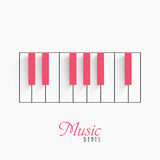 Piano keyboard for Music concept. Royalty Free Stock Images