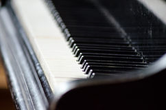 Piano keyboard music instrument black concert melody Royalty Free Stock Image