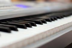 Piano keyboard. Music instrument. Black and white key. Play soun Royalty Free Stock Photos