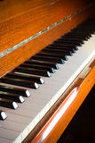 Piano keyboard,music instrument. Royalty Free Stock Image
